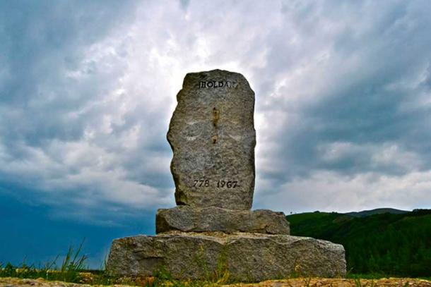 Monument at the Roncesvalles Pass.