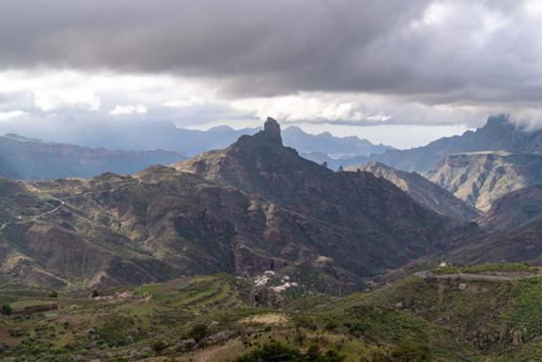 Roque Bentayga, Gran Canaria, seen from a distance. Credit: Ioannis Syrigos