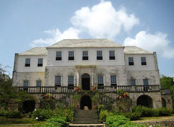 Rose Hall, the estate house of a former sugar plantation, in Jamaica