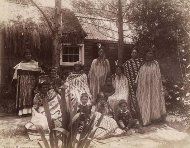 Māori whānau from Rotorua in the 1880s.
