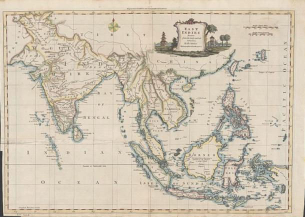 """A 1770 map by Britain's Royal Hydrographer shows the Panacot Shoal, now called Scarborough Shoal. """"Panacot"""" is a Filipino name in the Tagalog language."""