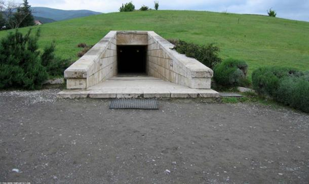 Royal Macedonian Burial Mound in Vergina.