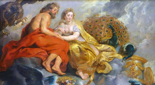 Rubens, The Presentation of the Portrait, detail with Zeus and Hera.