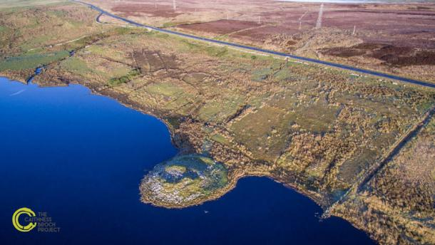 Ruined Broch located on Loch Rangag. Courtesy of Chris Sinclair Photography and the Caithness Broch Project.