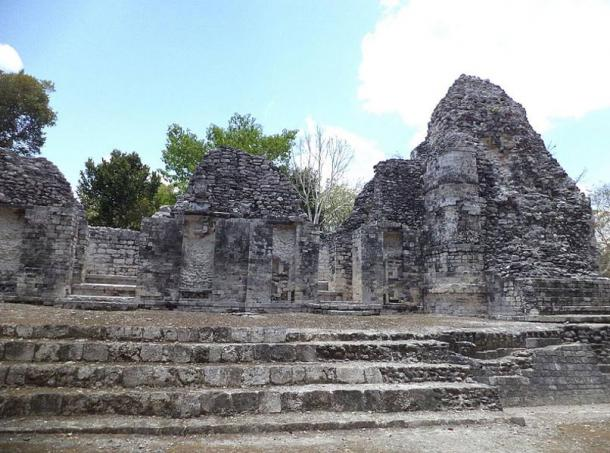 Ruins at Chicanná in Mexico.