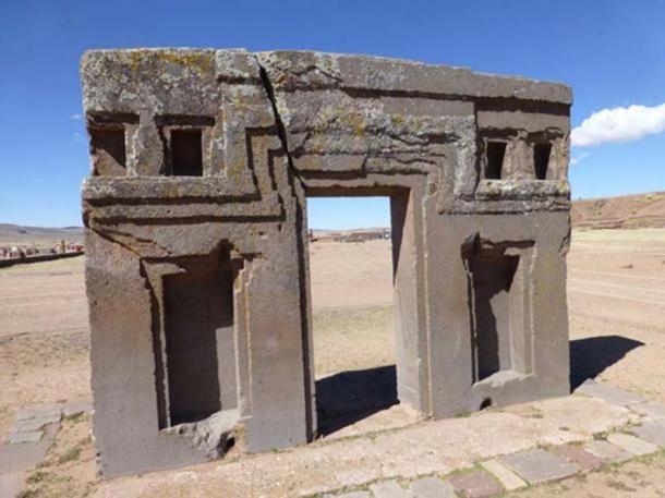 Ruins at Tiwanaku, Bolivia.