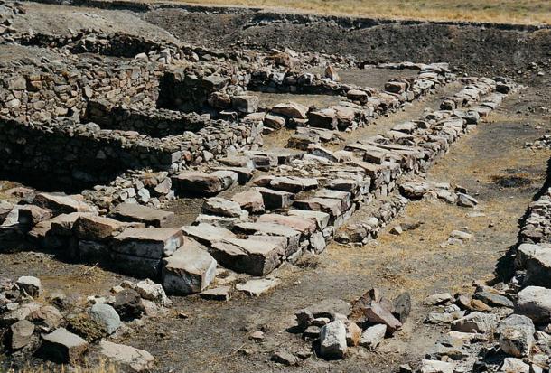 Ruins of  Hittite Palace at Kultepe, Turkey