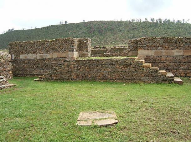 uins of Dungur Palace, Aksum, Ethiopia.
