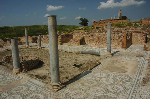 Ruins of a Roman home, Thuburbo Maius, Tunisia.