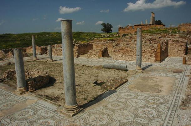 Ruins of a Roman home, Thuburbo Maius, Tunisia.