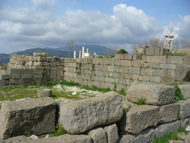 Ruins of part of the building which housed the Library of Pergamum.