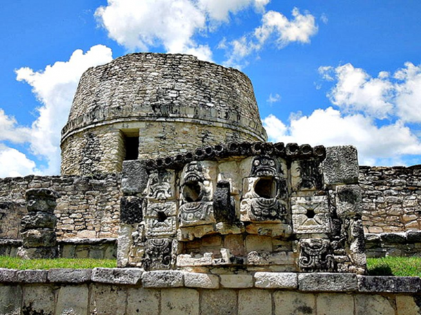 Ruins of the Maya city of Mayapan, located in the north of the Yucatan Peninsula.