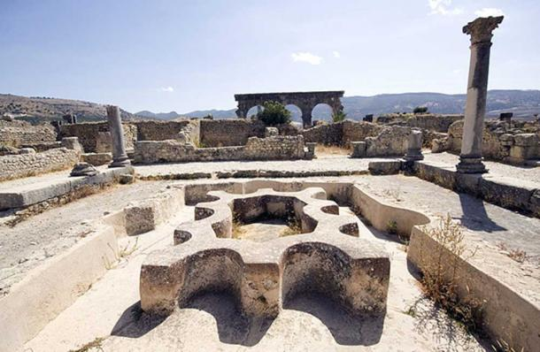 Ruins of the North Baths at Volubilis. (CC BY SA 4.0)