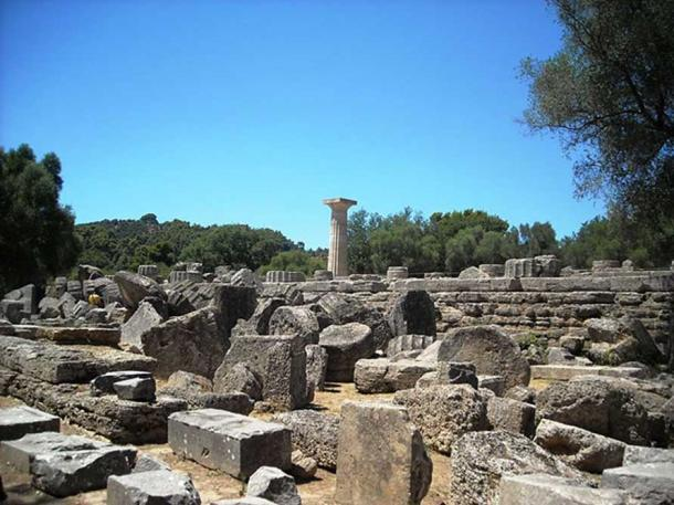 Ruins of the Temple of Zeus, Olympia. (Elisa.rolle/CC BY SA 4.0)