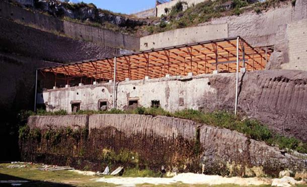 Ruins of the Villa of the Papyri in Herculaneum.