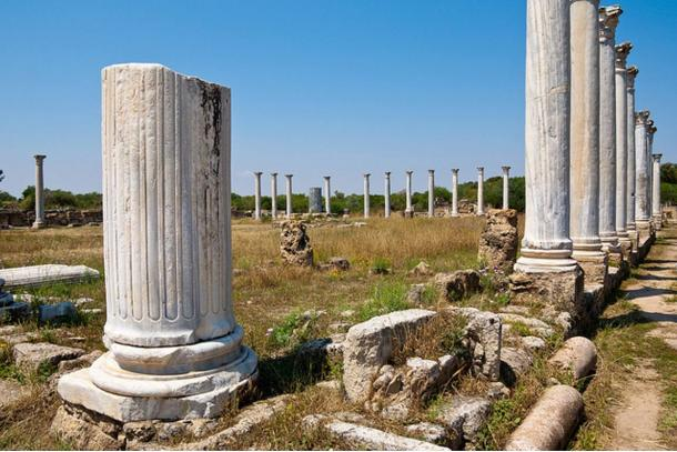 Ruins of the ancient city of Salamis, Cyprus.
