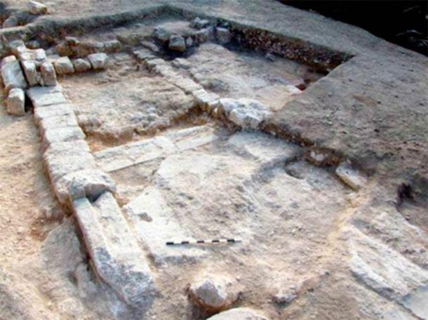 Ruins of a structure found at the Christian town in Galilee. (G. Cinamon & Y. Lerer)