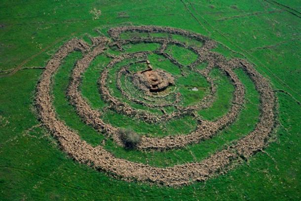 The prehistoric megalith Rujm el-Hiri / Gilgal Refaim.