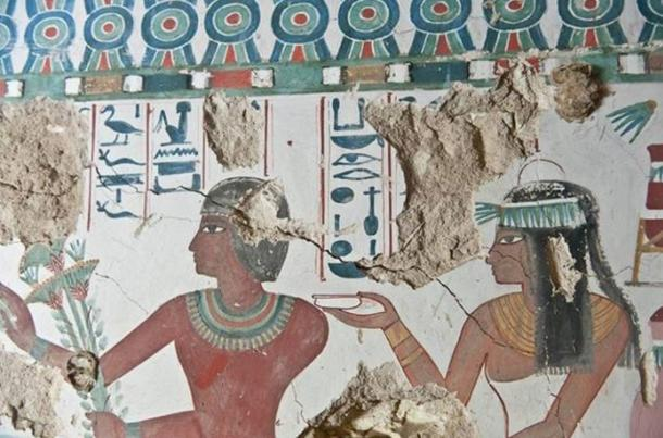 Sa-Mut and his wife, Ta Khaeet, depicted on the tomb walls