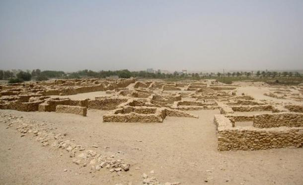 Saar temple's burial chambers are also said to be from the Dilmun period. Saar, Bahrain.