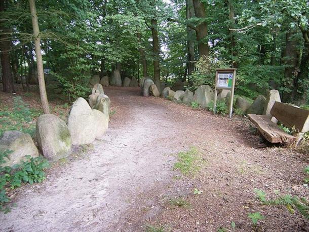 The Sachsenhain memorial to the massacre in Verden an der Aller, Germany.