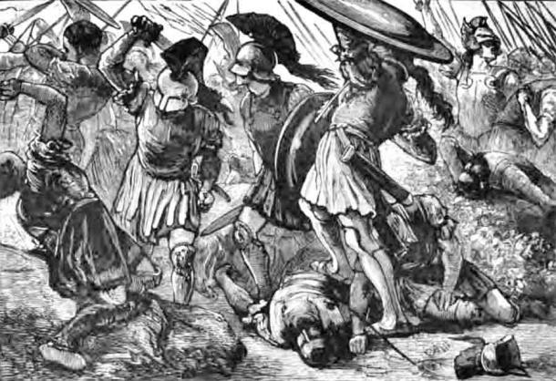 Священный отряд Фив трагически погиб в битве при Херонеи.