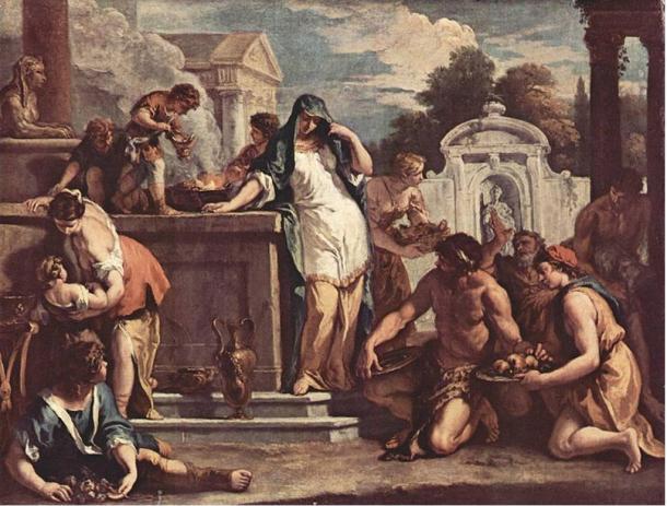Sacrifice to the goddess Vesta by Sebastiano Ricci