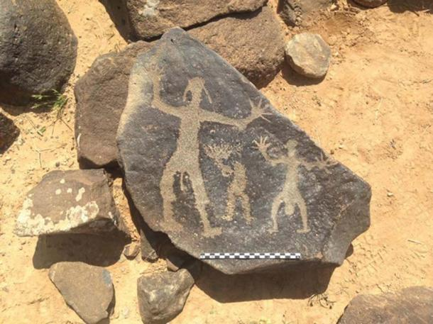 Safaitic rock art, made some 2000-2300 years ago