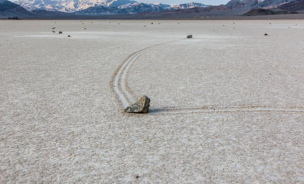 Sailing Rocks or Sailing Stones at the Racetrack Playa.