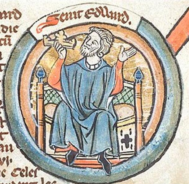 Saint Edward the Confessor whom Edward was named after.