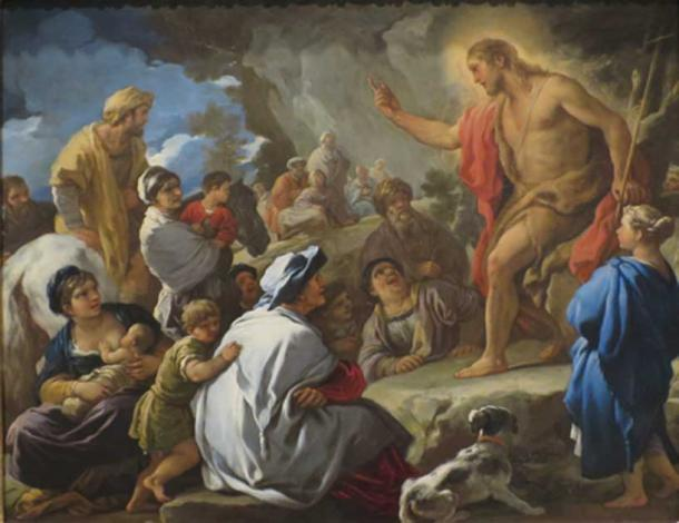Saint John the Baptist Preaching' by Luca Giordano (1695) (Public Domain)