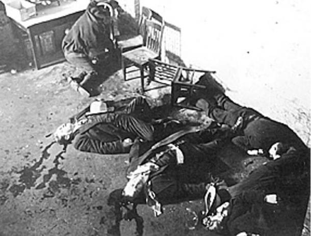 The photo of the Saint Valentine's Day Massacre finally forced law enforcement to act against Al Capone
