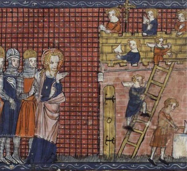 Saint Valentine of Terni and his disciples.