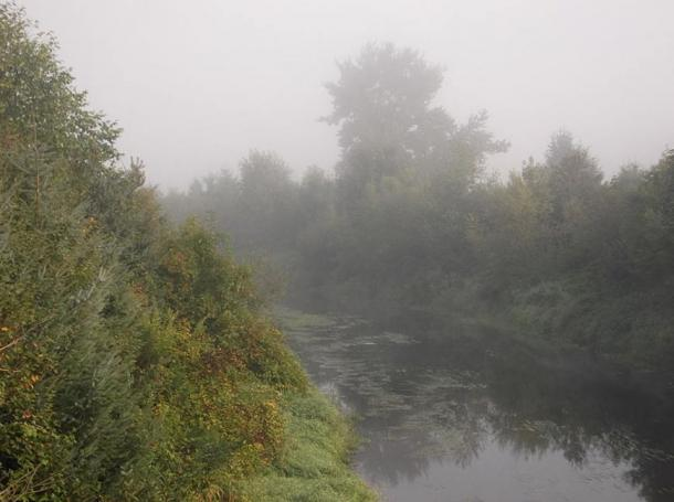 A view of the Sammamish River in King County, Maryland; Bear Creek is a tributary.