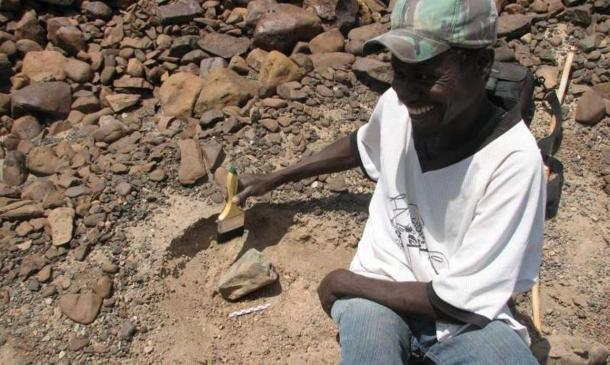 Sammy Lokorodi, a fossil and artifact hunter in Kenya's northwestern desert, led the way to the discovery of 3.3 million-year-old tools.