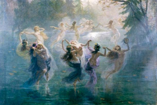 Samodivas dancing in 'Le Villi' (1906) by Bartolomeo Giuliano