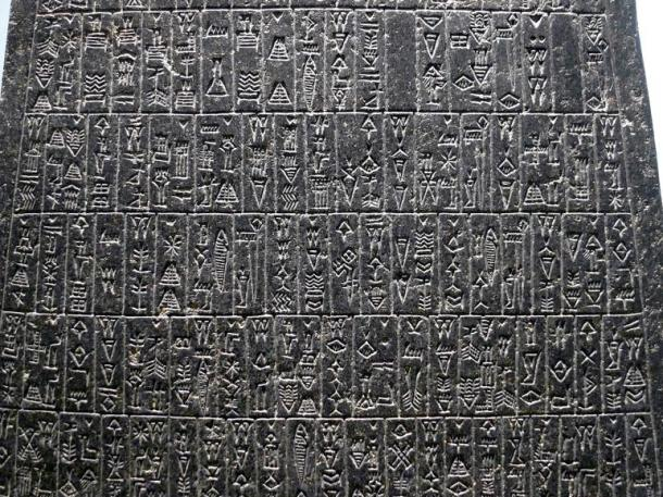 Sample of Akkadian language inscription, Akkadian text was found on the Karkemish artifact