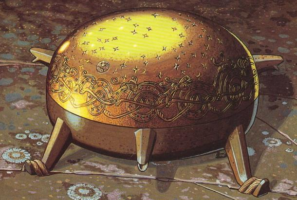 Sampo (Finnish Mythology/Kalevala) made flour, salt, and gold endlessly when bidden.