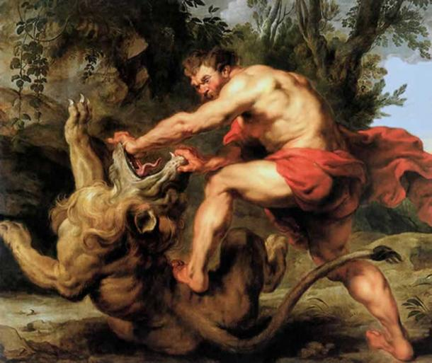 Samson Slaying the Lion (1628) by Peter Paul Rubens (public domain)