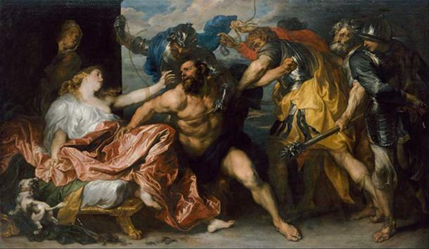 Samson and Delilah by Anthony van Dyck, circa 1628-1630. (Public Domain)