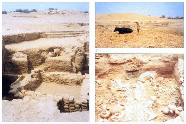 Images of the San José de Moro archaeological site.