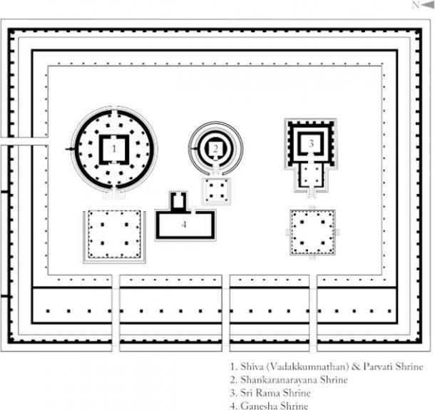 Sanctum Sanctorum layout in an Indian temple (Arjuncm3 / CC BY-SA 4.0)