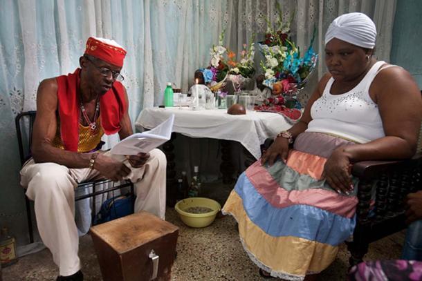 """Santería in Cuba. Ceremony of """"Cajón de muertos""""."""