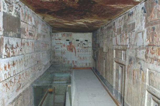 Saqqara, chapel of Kahai and his family, 5th Dynasty, around 2420 BC - 2389 BC.