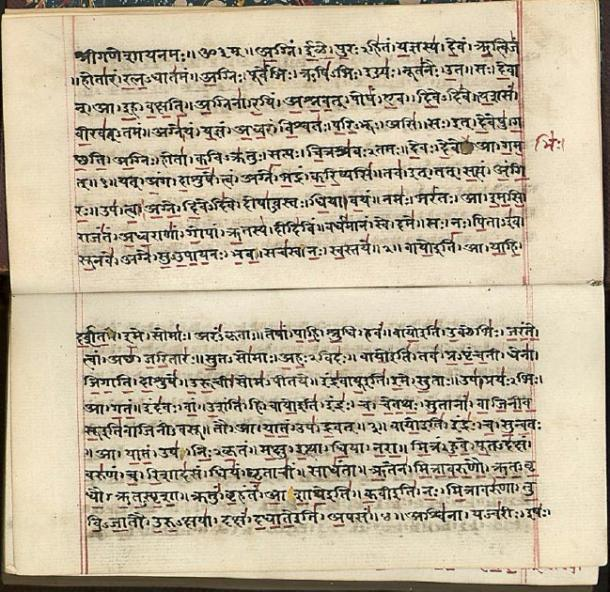 The Saraswati River is mentioned in the Rigveda, an ancient Indian collection of Vedic Sanskrit hymns. (BernardM / Public Domain)
