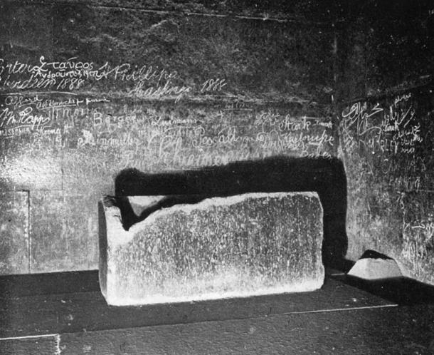 Sarcophagus in the King's chamber.