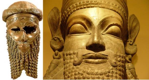 Left, Head most likely of Sargon of Akkad.