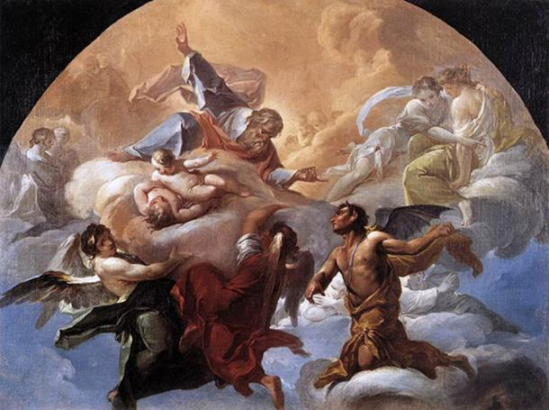 Satan before the Lord (ca. 1750) by Corrado Giaquinto.