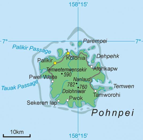 Location of Saudeleur Dynasty.