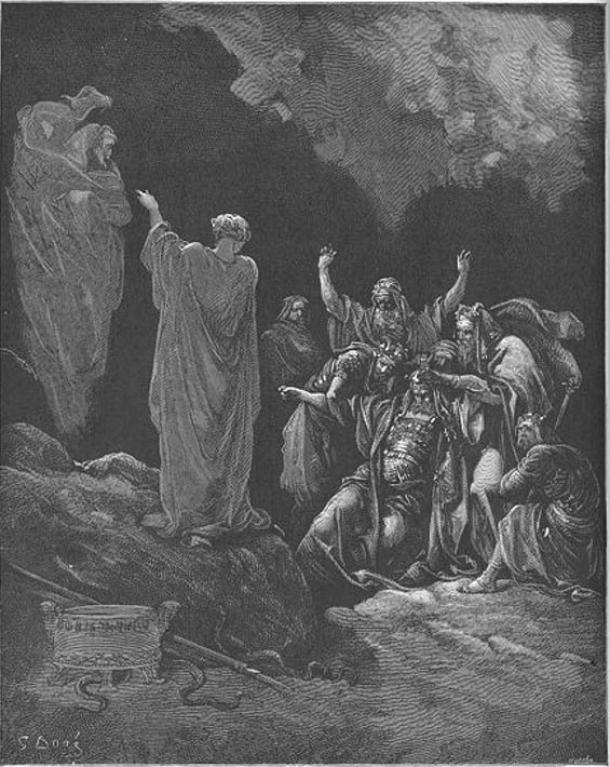 Saul and the Witch of Endor by Gustave Dore.